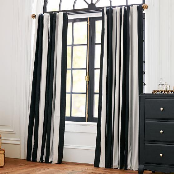 The Emily + Meritt Circus Stripe Blackout Drape | PBteen. Blackout DrapesBedroom  CurtainsBedroom DecorBedroom IdeasDiy ...