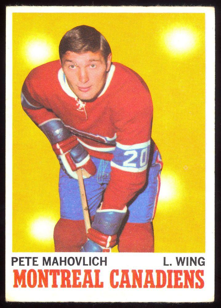 1970 71 Topps 58 PETE MAHOVLICH EX-NM MONTREAL CANADIENS HOCKEY CARD #MontrealCanadiens