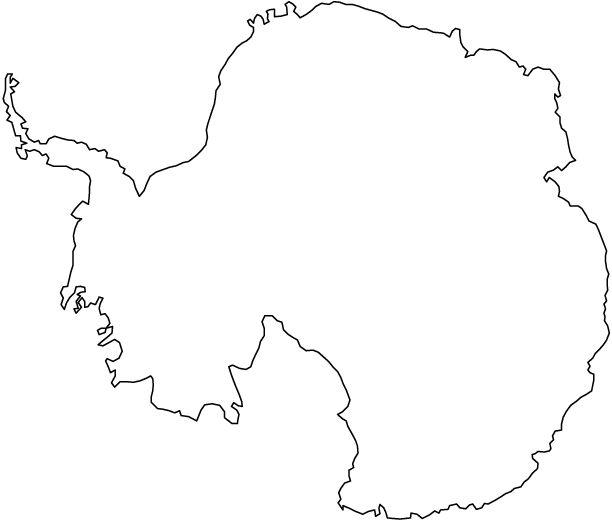 Antarctica outline map