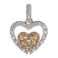 Grey sapphire gold heart pendant
