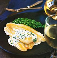 You can use any type of sole for this dish, such as petrale, lemon, or gray. They're all delicate in flavor, as is the simple lemon cream sauce. The balance in strength ensures that neither will overwhelm the other; the sauce just enhances the fillets.Recipe: Sole with Lemon Cream