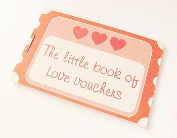 DIY valentines day gift idea - Love Voucher Token Book