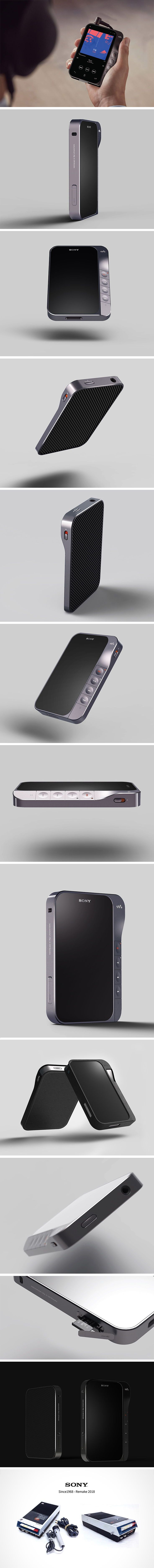 The designers at PDF Haus love a throwback! So, for this #ThrowbackThursday, we're checking out their tribute to the original Sony Walkman. Unlike the one from 1968, it features a solid state drive, digital screen and is about a tenth of the size! Compared to minuscule, modern MP3 players, however, this smartphone-size remake is still a clunker! It features a tactile backside for gripping and oversized control buttons that are easily accessible by the thumb.