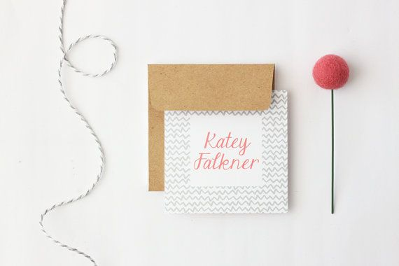 Custom Gift Cards Personalized Enclosure Cards by WhenItRainsShop