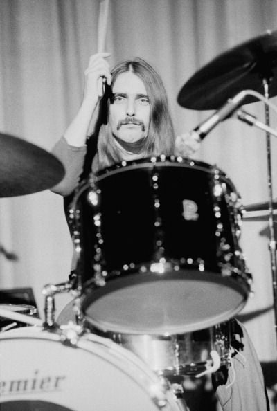 Drummer John Coghlan of British rock group Status Quo UK 1973