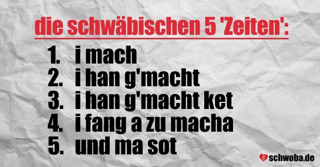 die schwäbischen 5 Zeiten