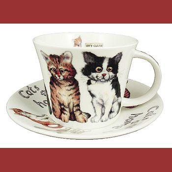 Кошки дома /Чайная пара для завтрака 500мл