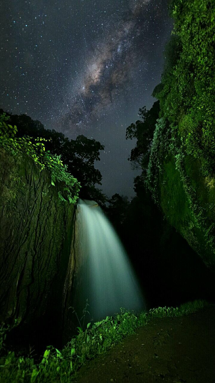 Spectacular sky & waterfall