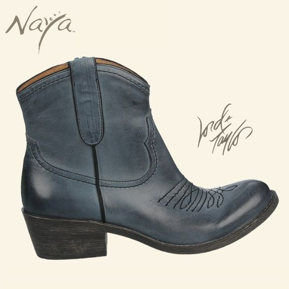 Cobalt is the must-have color for fall! The Naya Sandy's western-inspired cowboy chic boot is available in October at Lord & Taylor.