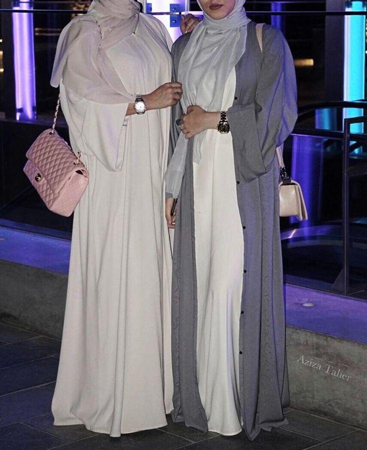 IG: Aziza.Taher || IG: BeautiifulinBlack || Abaya Fashion ||