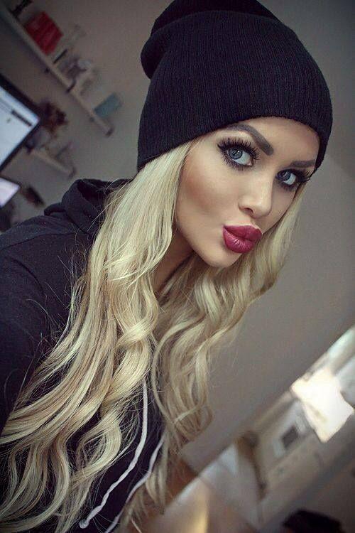 Cute makeup, plus, thats how you wear a beanie