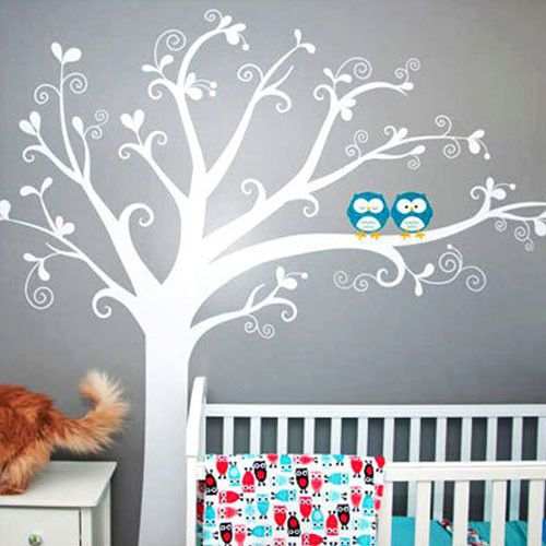 Owl theme nursery. LOVE!! This is the color of our walls!!!