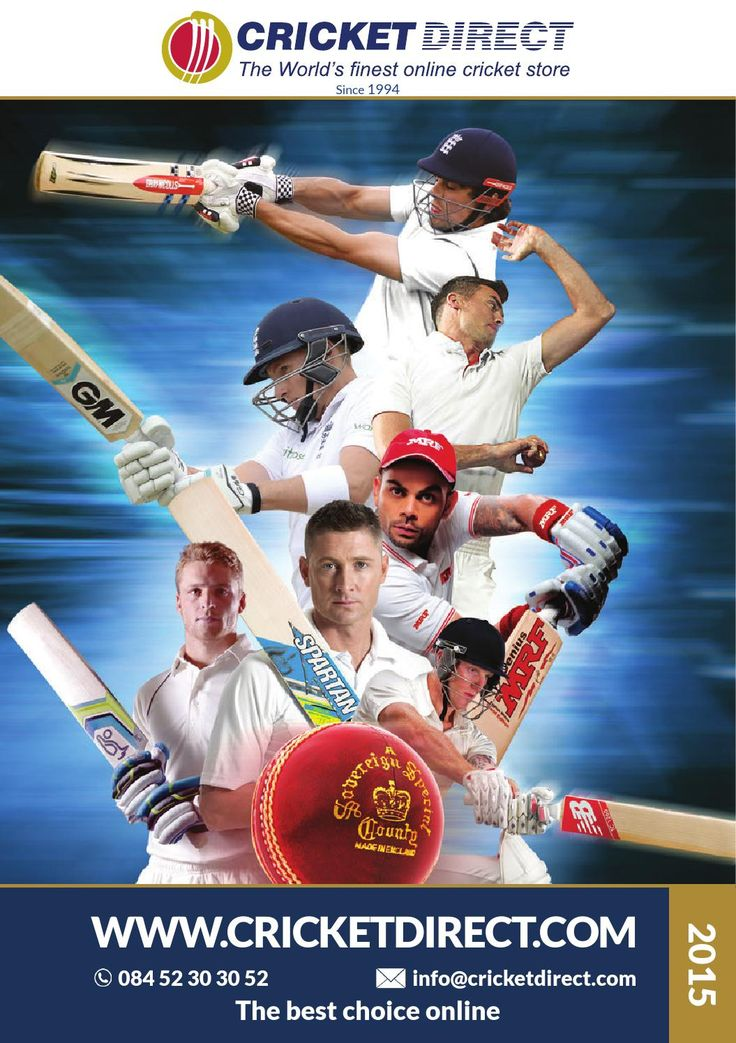 Cricket Direct Catalogue 2015  View the latest cricket bats and cricket equipment from the World's finest online cricket store, Cricket Direct. The best choice of cricket gear online has introduced even more ranges for 2015. Browse the latest items by Gray-Nicolls, Kookaburra, Gunn & Moore, Adidas, Puma, Oakley, Skins, Masuri and many, many more pro cricket brands.