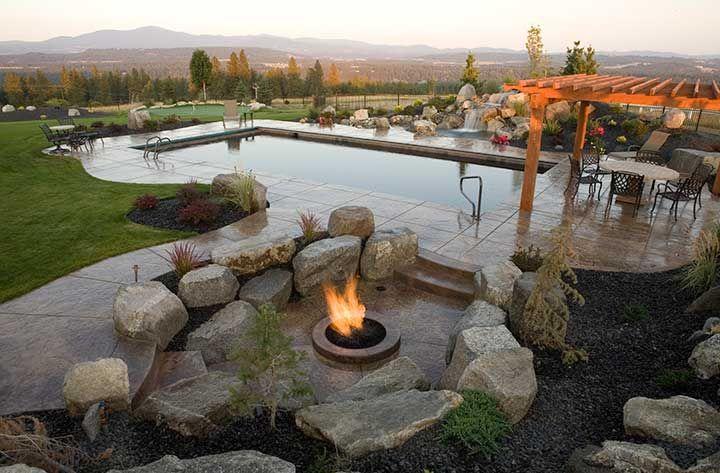 Landscape Boulders Spokane : Best images about resort style on