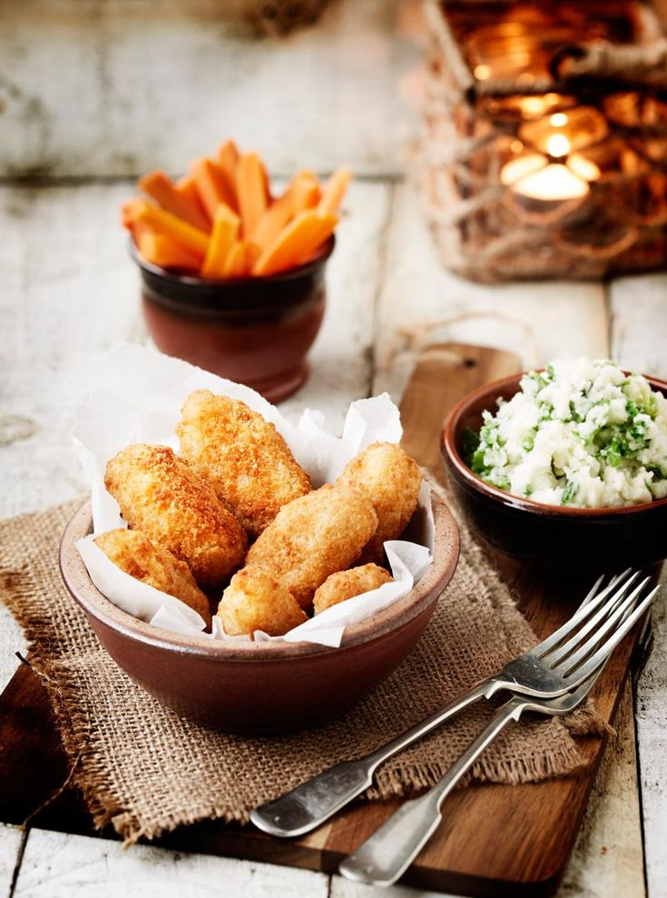 Comfort Food. Scampi. Food Photography. See more at http://www.magenta.org.uk/whitby-seafoods-food-photographer/
