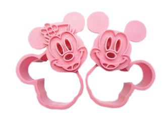 Mickey Mouse & Minnie Mouse cookie cutter | HuupHuup.nl
