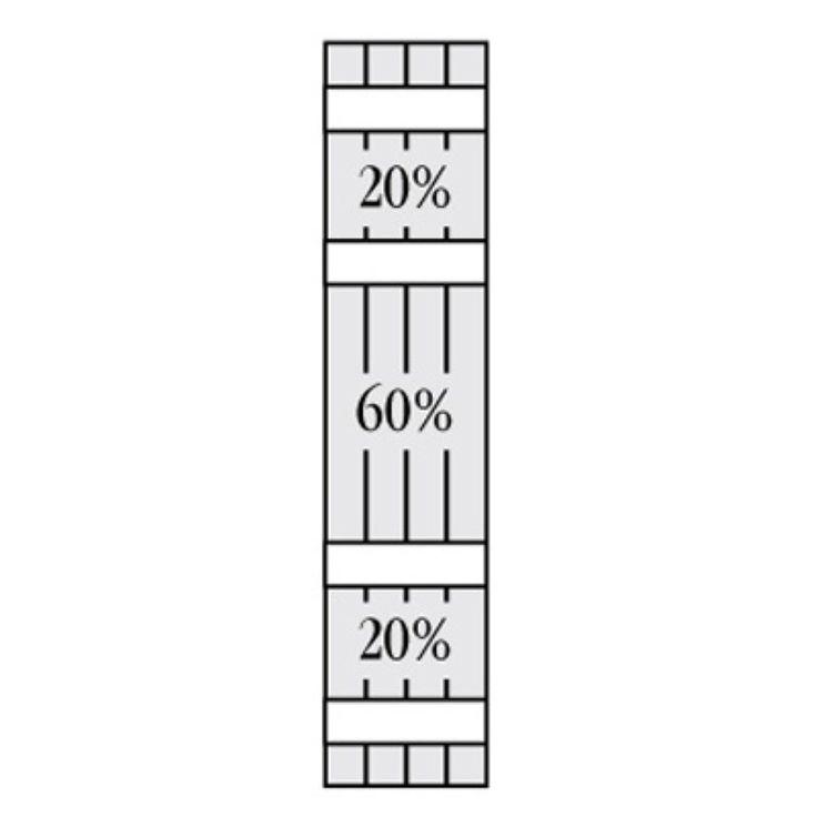 Perfect Shutters 7.625W in. Open Board-N-Batten Arch Top Vinyl Shutters Colonial Blue - 1370849008C004