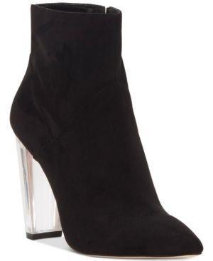 Jessica Simpson Tarek Lucite-Heel Booties - Black 7.5M