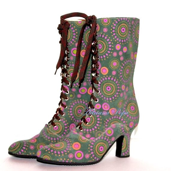 Victorian Boots Psychedelic design Victorian by VictorianBoots