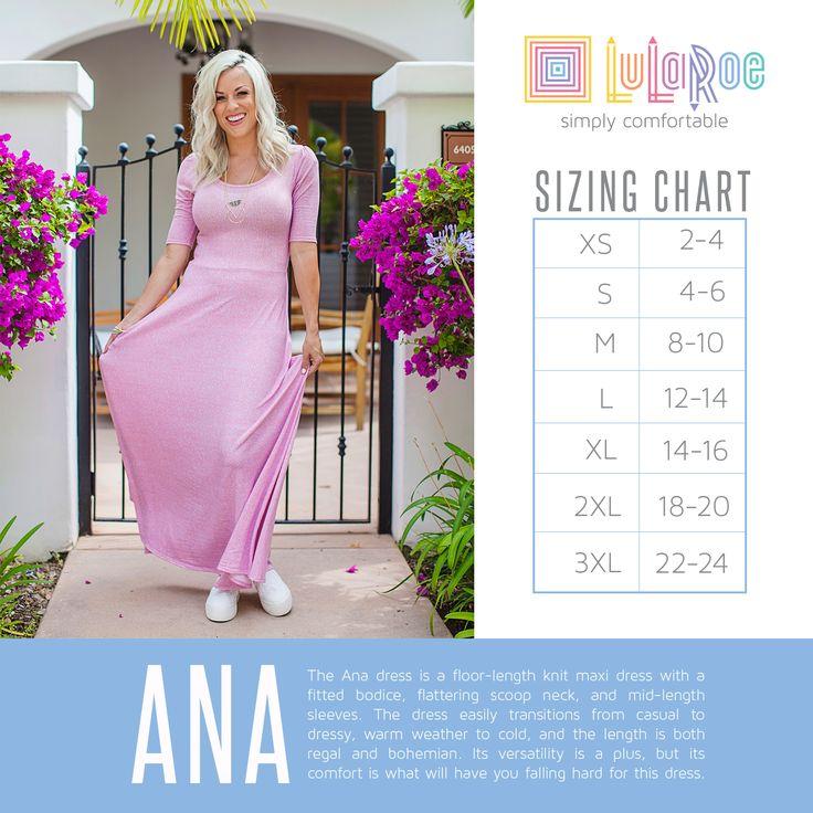 Lularoe Size Chart | sizingchart_ana ana Ana sizingchart ana