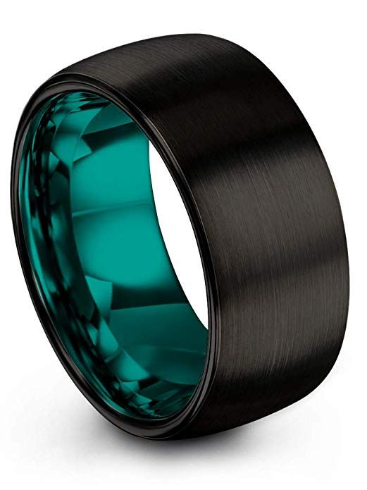 Tungsten Wedding Band Ring Chroma Color Collection Tungsten