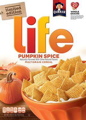 Product: Cold Cereals - Quaker Life Cereal, Pumpkin Spice | QuakerOats.com