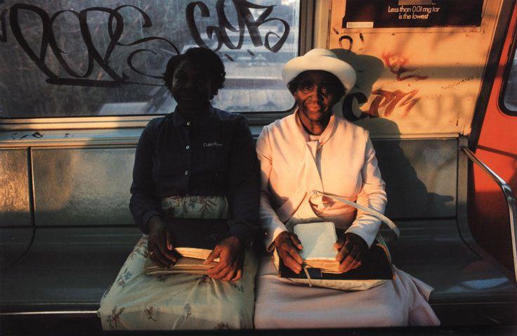 photo by Bruce Davidson; Subway series, 1980