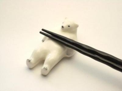 """""""shirokuma - rakudo"""" I collect bear-shaped """"hashi-oki"""" (chopstick holders), so this looks good.  There aren't as many for sale in Japan as you might expect, however.  Sort of like netsuke - very few authentic bear netsuke can be found."""