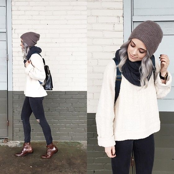 Modern Vice Boots, Madewell Jeans, Chris And Tibor Bag, Urban Outfitters Beanie