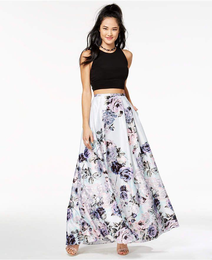 7380baf87d9 Blondie Nites Juniors  2-Pc. Floral-Print Gown  dress fierce pick ...