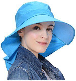 Kuyou Damen Outdoor Sommer Kappe Sonnenhut Strandhut Anti-UV-Hut