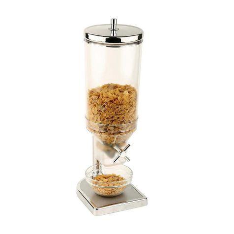 "Cerealienspender ""Fresh & Easy"", 1 Behälter 4,5 Ltr., 1 Behälter, 4,5 l, Edelstahl, Zink Vorderansicht"
