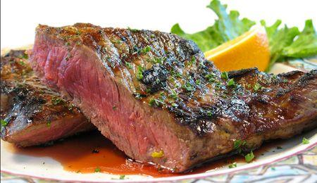 Mint and pink peppercorn rump steak