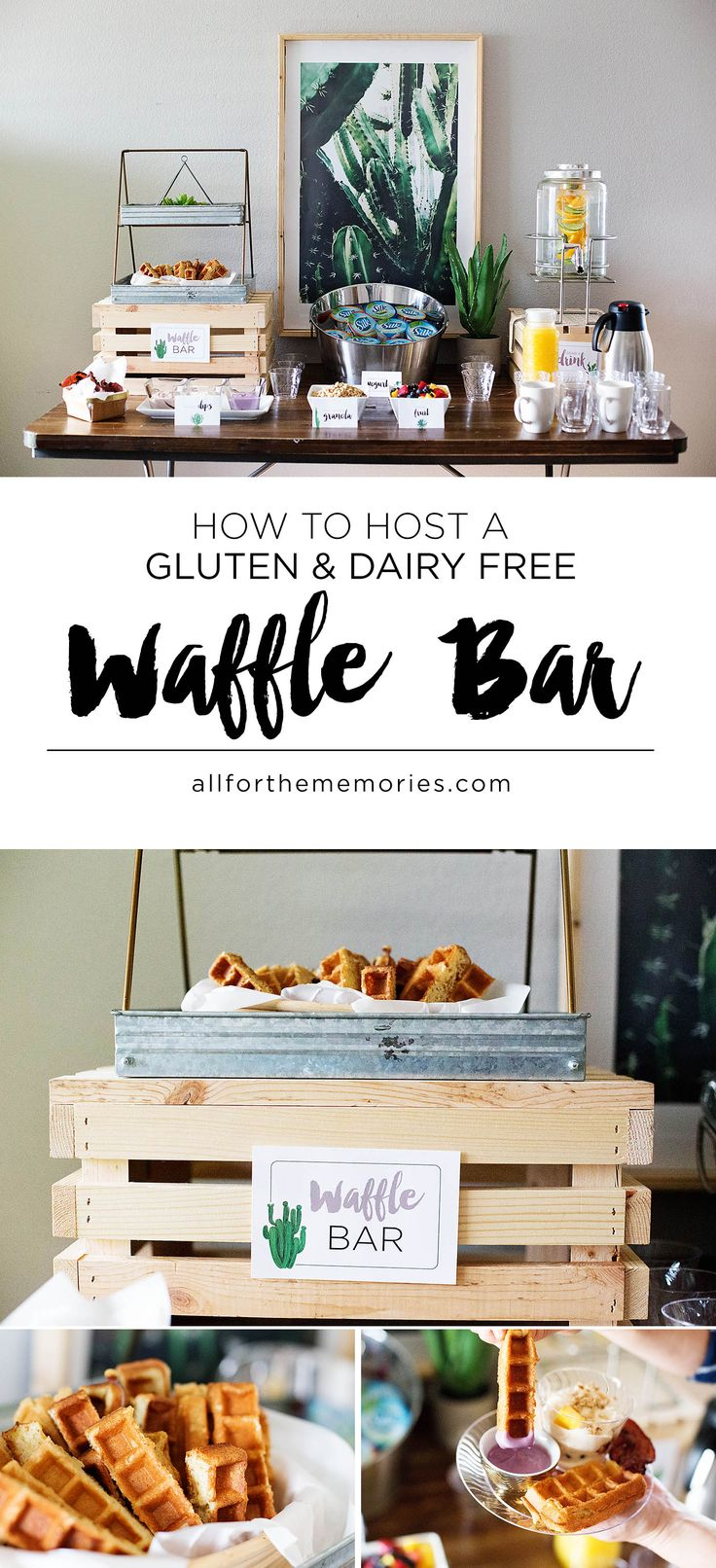 How to host a gluten and dairy free waffle bar AD #dairyfreegoodness @walmart