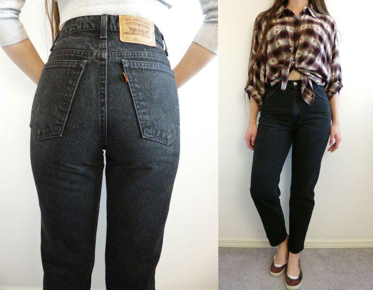 vtg 80s levis 912 high waist tapered skinny mom jeans faded black grunge 27 x 28 levis 90s. Black Bedroom Furniture Sets. Home Design Ideas