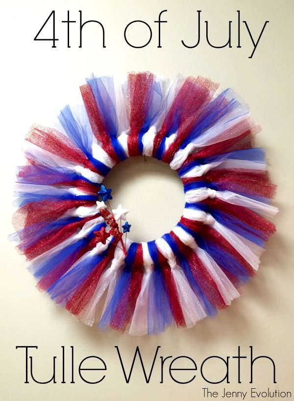DIY Patriotic 4th of July Tulle Wreath Tutorial - Perfect for Independence Day!