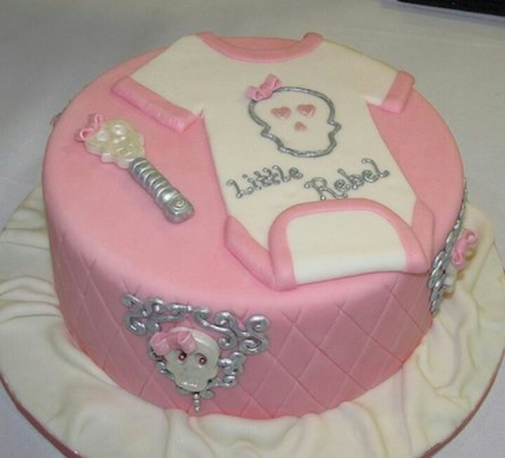 Skull cakes baby shower cakes and shower cakes on pinterest
