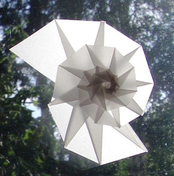 Fensterbild SPIRALE transparent SCHNECKE Anleitung von kakaka-Geschenkideen auf DaWanda.com