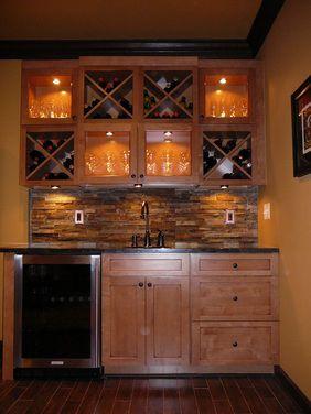 Basement wet bar idea- the Husband would like...if I had one...