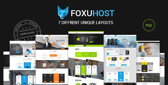 Foxuhost - Hosting / Business Template . Foxuhost has features such as High Resolution: Yes, Layered: Yes, Minimum Adobe CS Version: CS6