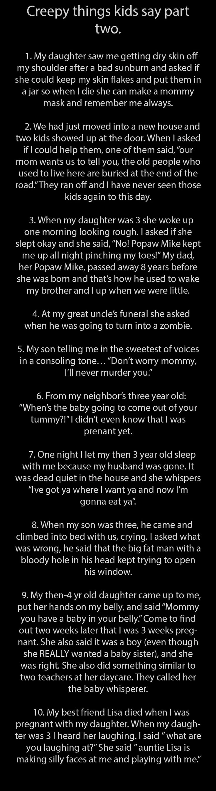 Creepy things kids say 2