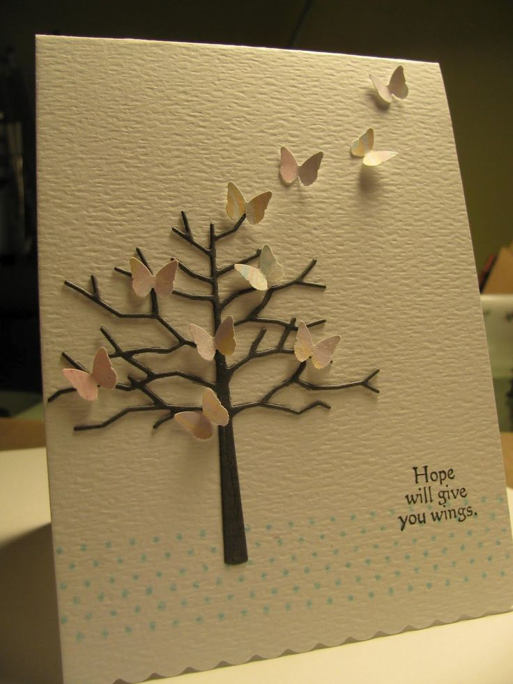 "Memory Box ""twiggy tree"" die. Martha Stewart butterfly punch."