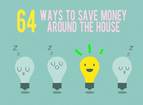 There is no better time than RIGHT NOW to start saving money than right now so here is a massive list just for you! 64 Insanely Easy Ideas!