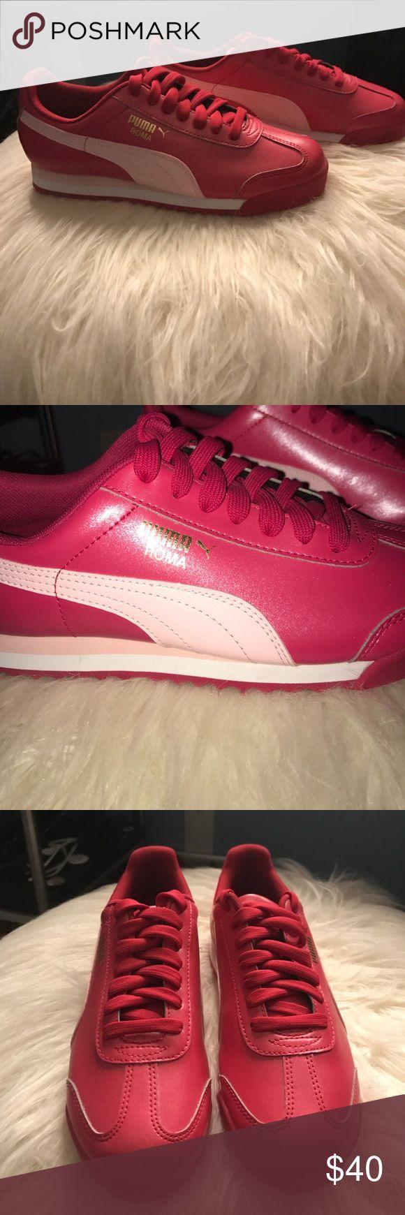 NWOT super cute pink Puma romas NWOT never ever worn, pink multitone Puma Roma, size kids 4 women's 6. Super super cute Puma Shoes