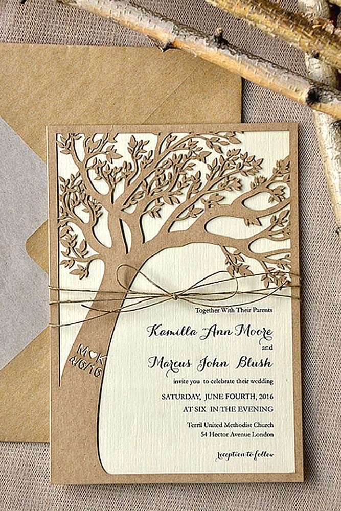 rustic ideas for wedding invitations 21