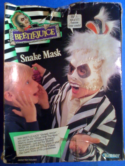 1990 BEETLEJUICE SNAKE MASK - #BEETLEJUICE MASK -NIB- KENNER #30180 - Ship In BOX | Christophers Curious Goods