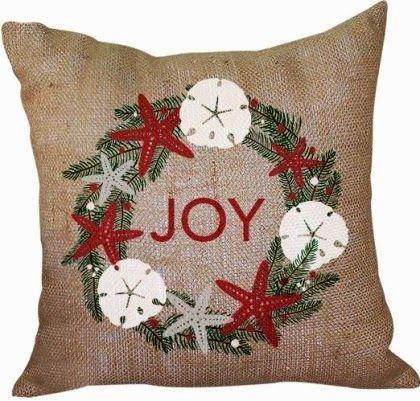 Coastal Nautical Christmas Pillows