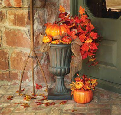 Pumpkin Urn Arrangement