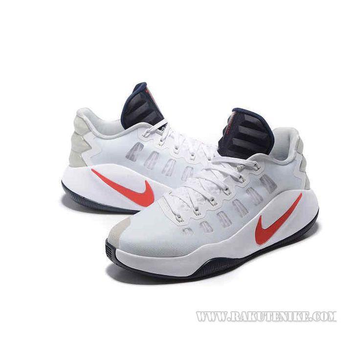 2016SS新作Nike Hyperdunk 2016 Low ナイキ ハイパーダンク ロー ホワイト×オブシディアン×クリムゾン 844364-146 メンズ バスケットシューズ バッシュ