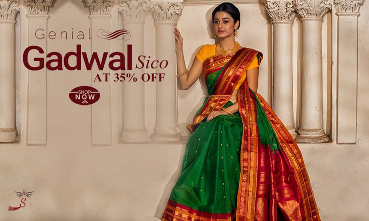 Hot Seller: #GadwalSICOSarees  launched at 35% OFF!